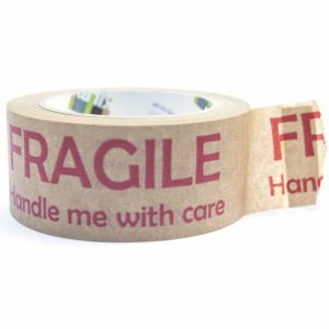 Brown Paper tape FRAGILE HANDLE ME WITH CARE 48MMX50M