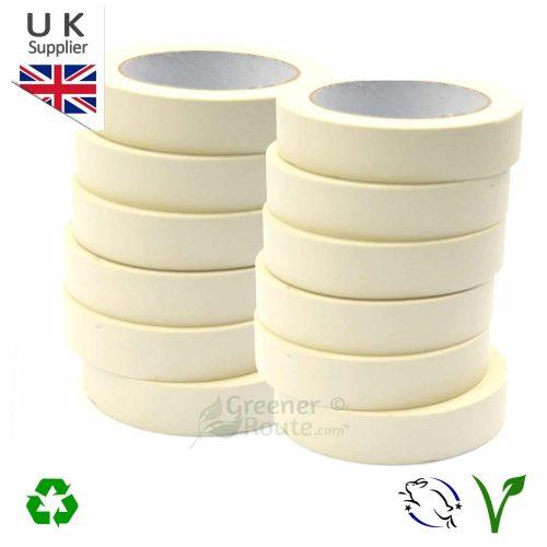 12 rolls premium white masking tapes