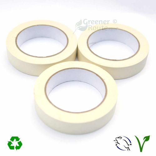 3Rolls of 25mmx50m white masking tapes
