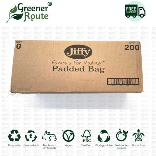 200 Jiffy Green Jiffy Bags